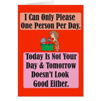 El hoy no es su tarjeta de felicitación del día