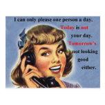 El hoy no es su taza retra de la imagen del día tarjeta postal