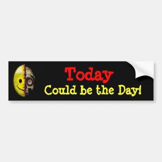 ¡El hoy podía ser el día! Pegatina para el paracho Pegatina Para Auto