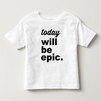 El hoy será camiseta moderna épica del niño polera