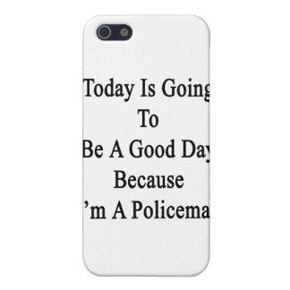 El hoy va a ser un buen día porque soy un Poli iPhone 5 Fundas