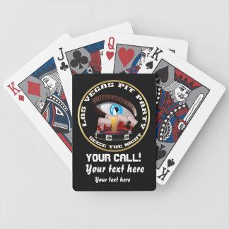 El hoyo del fiesta del casino de Vegas ve por favo Baraja Cartas De Poker