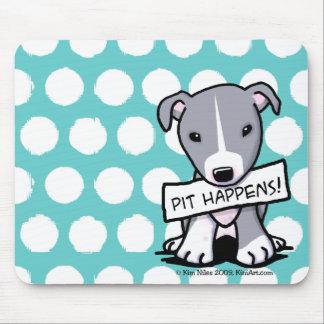 El hoyo sucede perro del pitbull tapetes de ratón