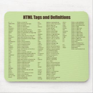 El HTML marca Mousepad con etiqueta