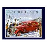 El Hudson 1934 8 - anuncio del vintage Postal