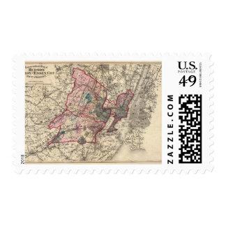 El Hudson, unión, Essex Lechuga romana, NJ Sello Postal