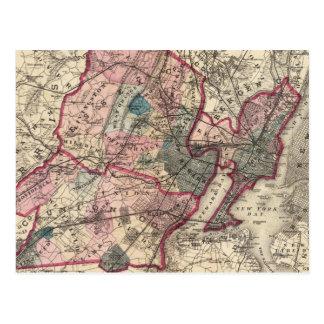 El Hudson, unión, Essex Lechuga romana, NJ Postales