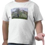 El huerto con los árboles en flor camisetas