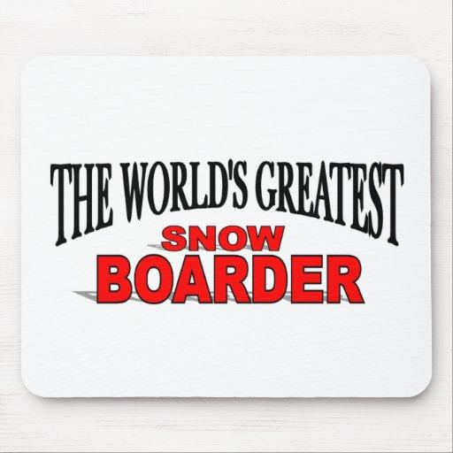 El huésped más grande de la nieve del mundo alfombrilla de raton
