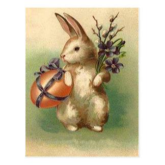 El huevo de Pascua del conejito de pascua del Postal