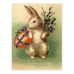 El huevo de Pascua del conejito de pascua del vint Tarjetas Postales