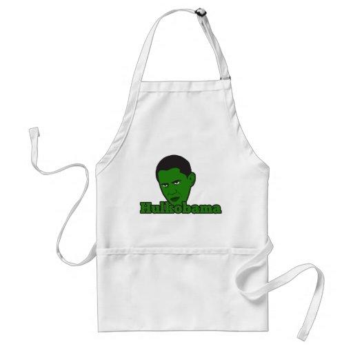 El Hulkobama enojado verde Delantal