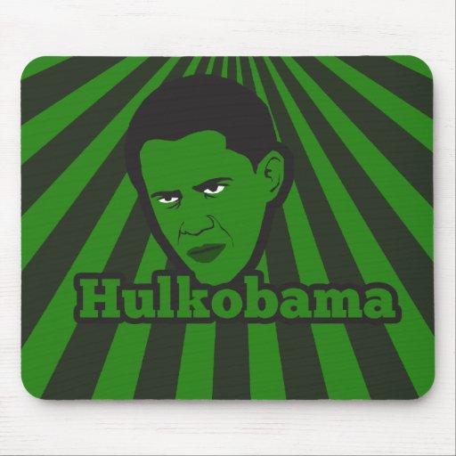 El Hulkobama enojado verde Tapete De Ratón