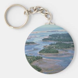 El humedal, Slough del sur Coos bahía, O Llavero Redondo Tipo Pin
