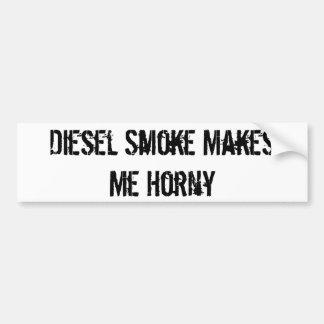 El humo diesel me hace córneo pegatina para auto