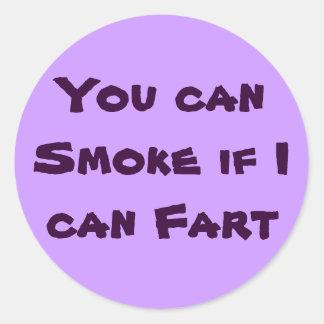 el humo/fart los pegatinas pegatina redonda