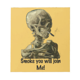 El humo principal de Vincent van Gogh usted se Bloc De Notas