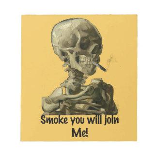 El humo principal de Vincent van Gogh usted se Blocs De Notas