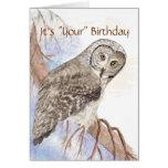 """El humor, búho lindo """"da tarjeta de cumpleaños de"""