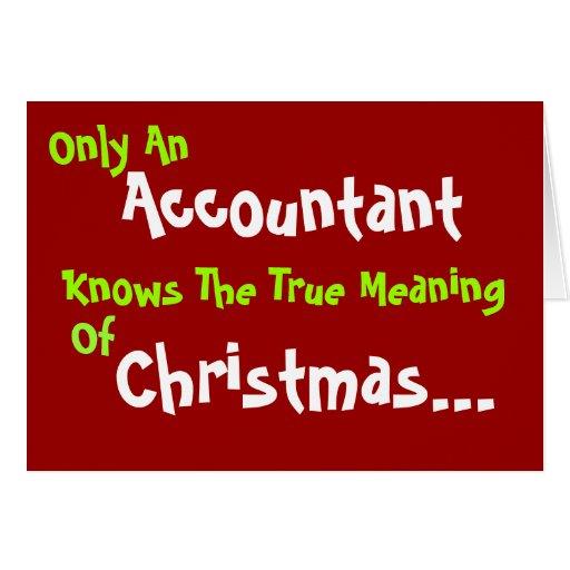 El humor del navidad del contable añade el subtítu felicitación