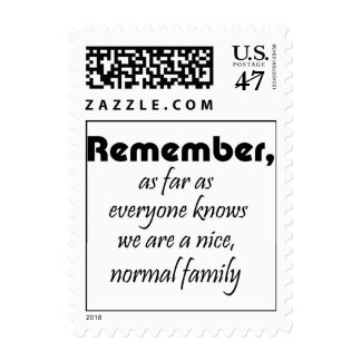 El humor divertido de la familia del refrán cita timbre postal