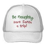 El humor divertido del día de fiesta de los regalo gorras