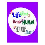 El humor es una cuestión seria tarjeta postal