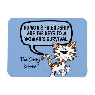 El humor y la amistad son necesarios para la super iman rectangular