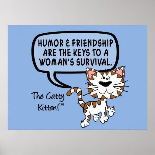 El humor y la amistad son necesarios para la super posters