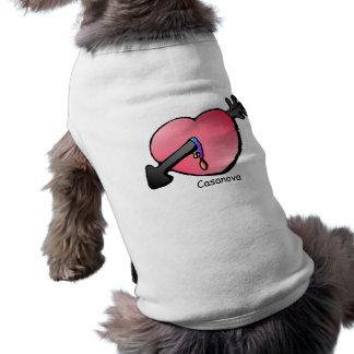 el hunde del hund del perro persigue el playera sin mangas para perro