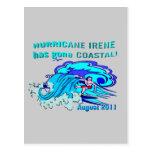 ¡El huracán Irene tiene Coastal ido! Tarjeta Postal