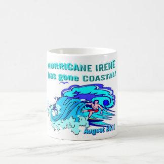 ¡El huracán Irene tiene Coastal ido! Taza De Café