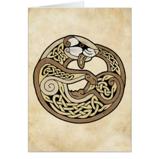 El hurón céltico tarjeta de felicitación