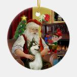 El husky siberiano #3 de Santa Ornamentos Para Reyes Magos