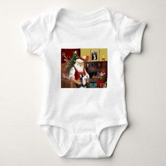 El husky siberiano de Santa Tee Shirt