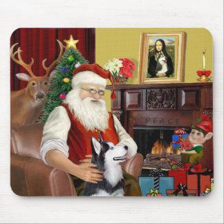El husky siberiano de Santa Mouse Pads