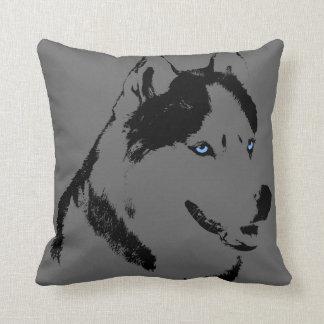 El husky siberiano fornido de la almohada soporta cojín decorativo