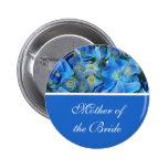 el hydrangea azul florece el botón