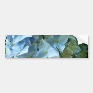 El Hydrangea azul florece la foto floral de la Pegatina Para Auto