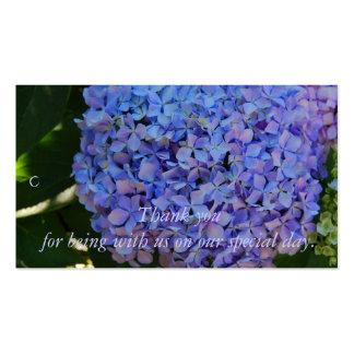 El Hydrangea azul le agradece etiqueta del regalo Tarjetas De Visita