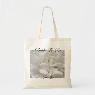 """El Hydrangea blanco """"Novia-A-Es"""" la bolsa de asas"""