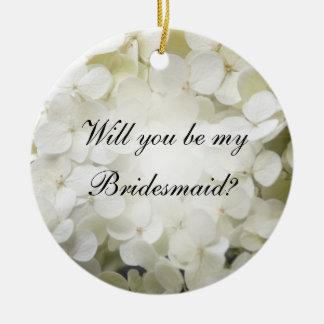 El Hydrangea blanco usted será mi ornamento de la Adorno
