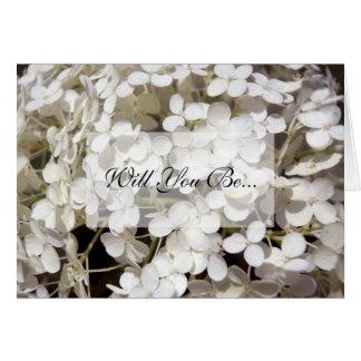 El Hydrangea blanco usted será mi tarjeta de la da