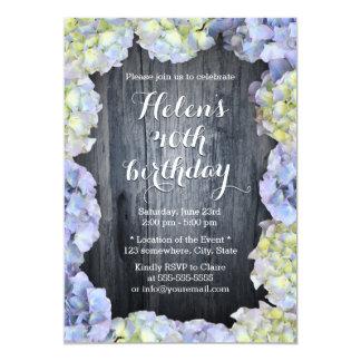 """El Hydrangea elegante florece a la fiesta de Invitación 5"""" X 7"""""""