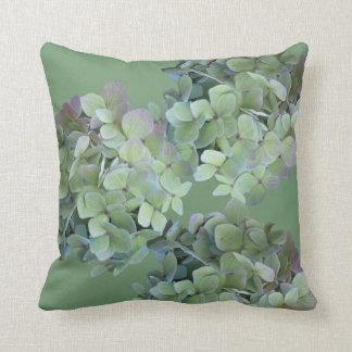 El Hydrangea florece la almohada de tiro rosada y