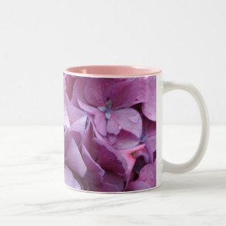 El Hydrangea florece taza de café