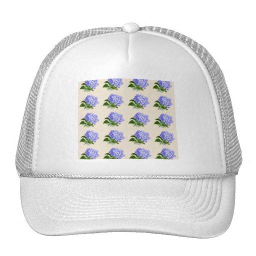 El Hydrangea púrpura florece el modelo del vintage Gorros