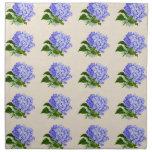 El Hydrangea púrpura florece el modelo del vintage Servilletas Imprimidas