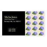 El Hydrangea púrpura florece el modelo del vintage Tarjetas Personales