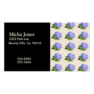 El Hydrangea púrpura florece el modelo del vintage Tarjetas De Visita